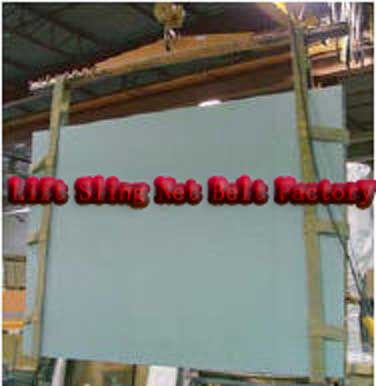 glass packing sling|glass lifting sling|glass sling|Glass Handling Sling|glass textile sling |flat pack sling