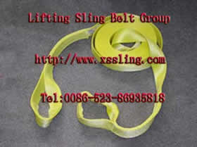 Nylon webbing sling with eyes